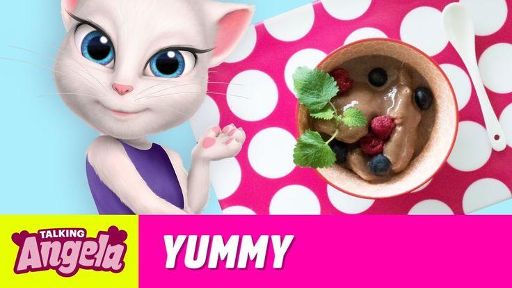 Talking Angela - Healthy Vegan Ice Cream (Yummy Recipe) xo Talking Angela  #TalkingAngela #MyTalkingAngela #TalkingFriends #LittleKitties #TalkingGinger #TalkingHank #TalkingTom #TalkingBen #LittleKitties #MyTalkingAngela #tips #tricks #food #cozy #home #chocolate #recipes #yummy