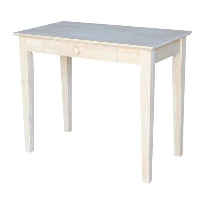 International Concepts Traditional Unfinished Writing Desk Lowes Com In 2020 Wood Writing Table Writing Table Solid Wood Desk