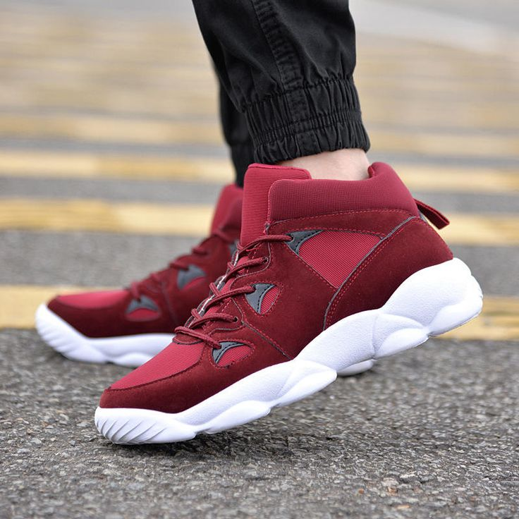 Men's Shock Absorbing High Top Ankle Sneakers Short Boots Outdoor Sports Shoes