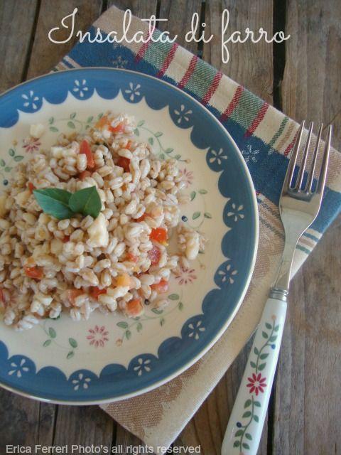 Ogni riccio un pasticcio - Blog di cucina: Insalata di farro con mozzarella e pomodoro