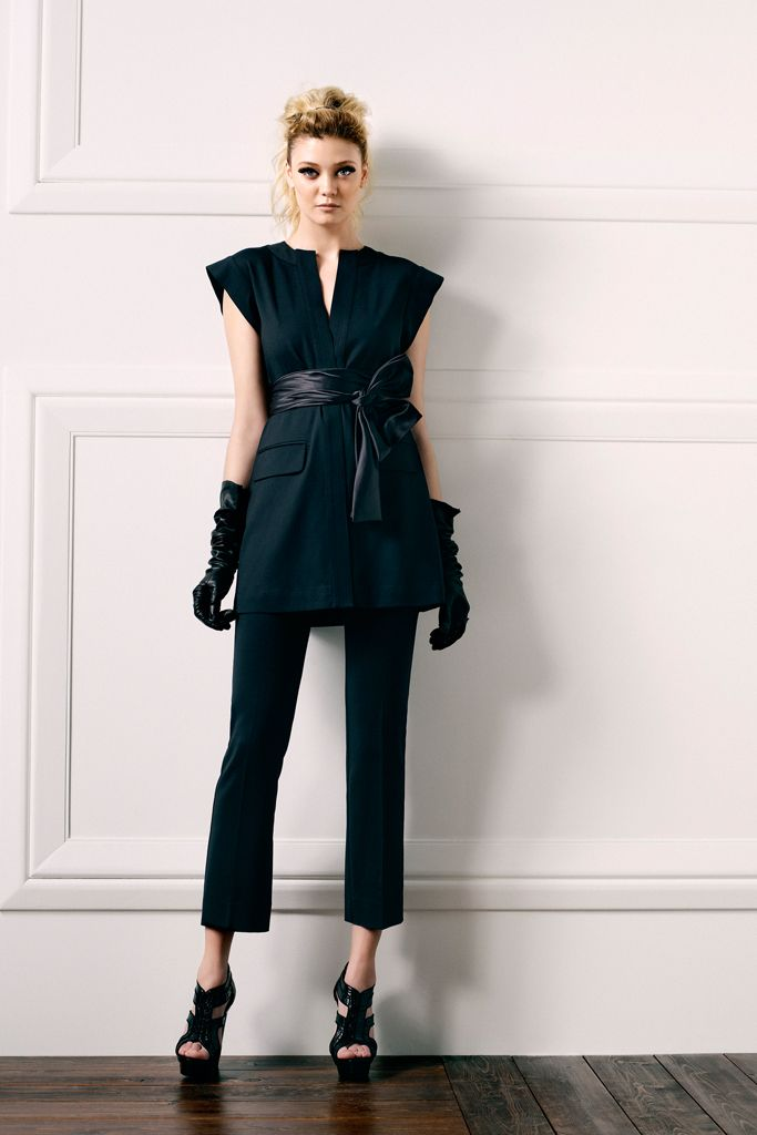 RZ Pre-fall 2012 RTW ... love this wide shoulder look with the almost-obi belt. #fashion