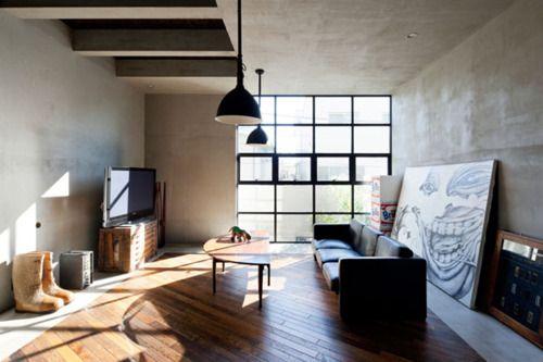 batixa: Living Rooms, Levels Architects, Studios Spaces, Studios Apartment, Interiors Design, House, Concrete Floors, Bachelor Pads, Art Rooms
