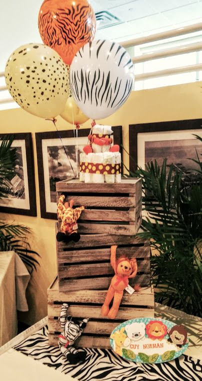 Safari baby shower theme. Peacock Cafe in Miami. Design by Wishes to weddings