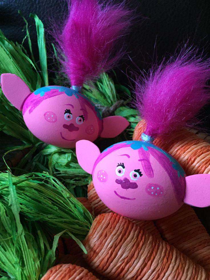 Trolls movie Easter eggs idea FB @stradacreatividades