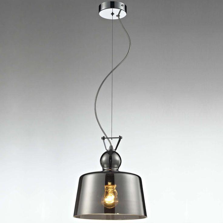 LAMPA wisząca LAMP 305/D szklana OPRAWA zwis retro przydymiony