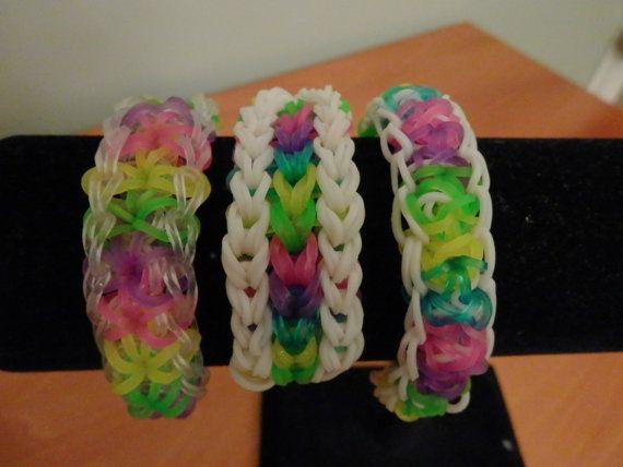 96 best rainbow loom bracelets images on pinterest jelly beans rainbow loom bracelets by tinyhangingheart on etsy 800 fandeluxe Images