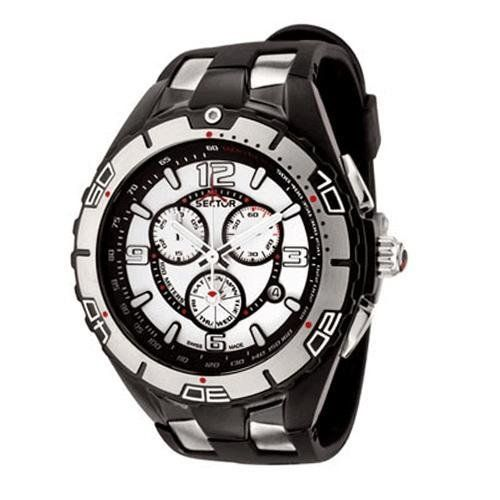 Sector Mens R3271934045 340 Collection Chronograph Black Polyurethane Watch | Best Sellers
