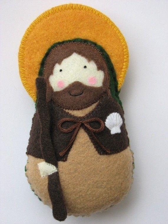Saint James the Greater...Felt Softie by SaintlySilver on Etsy, $18.00