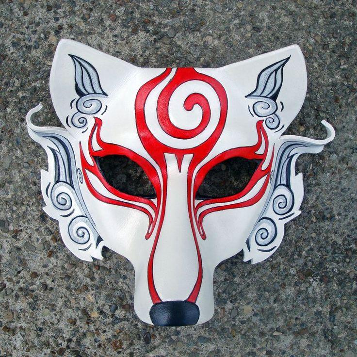 Shiranui...Japanese Wolf Mask by merimask.deviantart.com