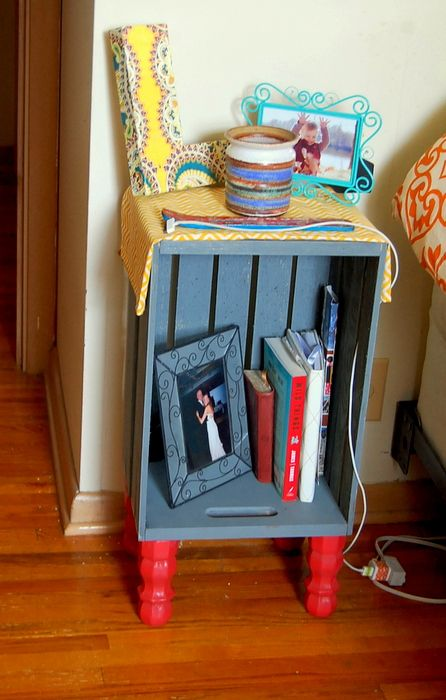 DIY--Wood Crate Night Stands