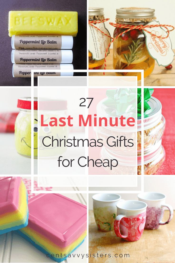 Last Minute Christmas Gifts for Cheap: These DIY Christmas presents will help you stay on budget  and get your Christmas shopping done. Check out the post for tons of great ideas!