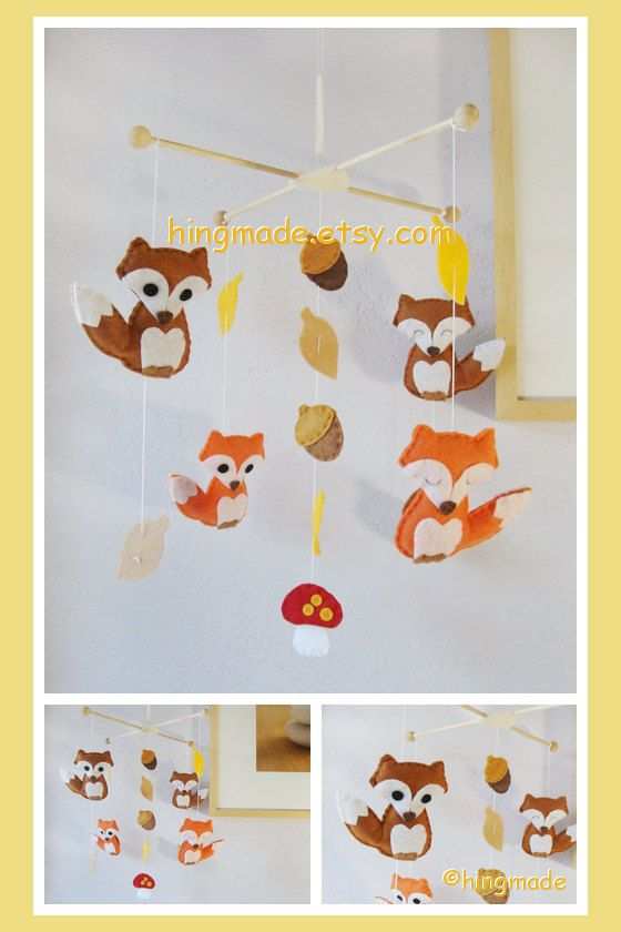 Baby Mobile Nursery Mobile Hanging Felt Mobile by hingmade, $89.00 I believe I may make my own!!