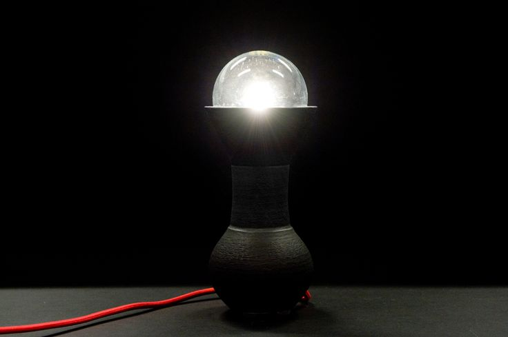 table lamp by SWOON  black ceramic