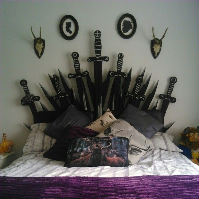 Game Room Ideas For House: Game Of Thrones Inspired Headboard Designed And Painted By