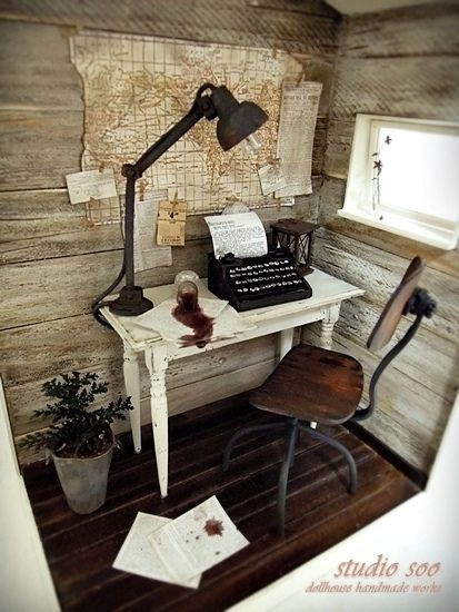 {dollhouse room} Writer's Room by studio soo from Cindy Adams