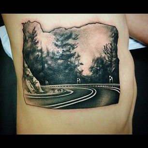 Oregon | 50 Awesome State Tattoos That Will Fill You With Hometown Pride