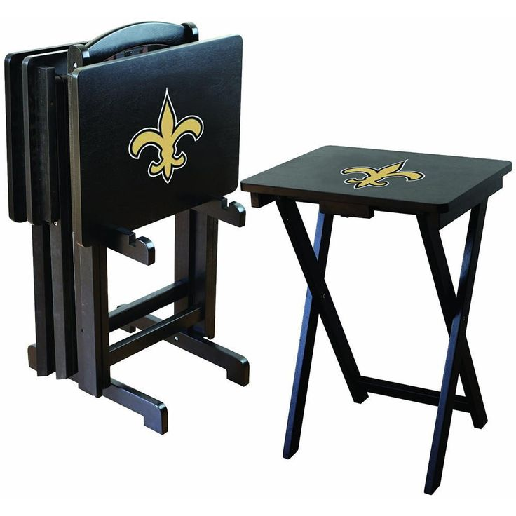 New Orleans Saints NFL TV Tray Set with Rack