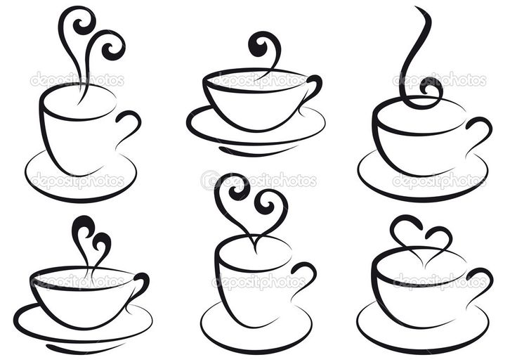 Teapots and Tea Cups Drawings | depositphotos_4011958-Coffee-and-tea-cups-vector.jpg