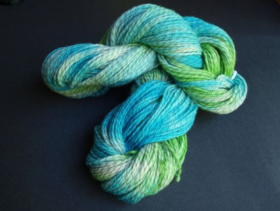 This unique hand dyed yarn is super soft and perfect for your next project! There are two 100g skeins available.