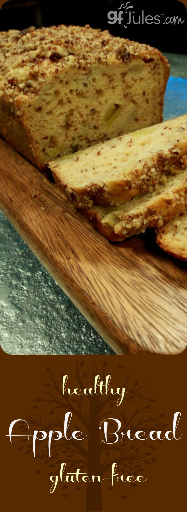 Healthy Gluten Free Apple Bread -- recipe and how-to video. |gfJules.com