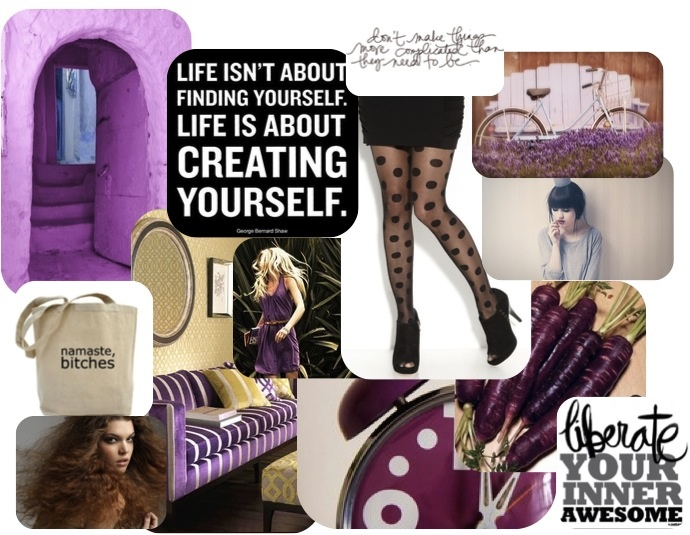 daily inspiration #creatyourself #purple