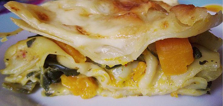 Vegetarische Kürbis - Mangold - Lasagne, ein sehr leckeres Rezept aus der…