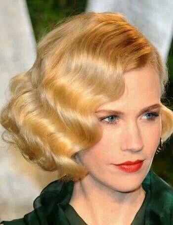 1920's finger wave bob hairstyle