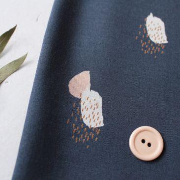 Atelier Brunette Moonstone Blue Viscose Fabric - Guthrie & Ghani