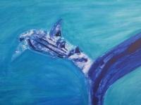 Whale Shark 8  76 x 102cm  Mixed media on canvas  $1,000.00