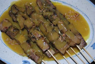 Satay Padang / Sate Padang can be made of any kind of meat other than chicken and beef!