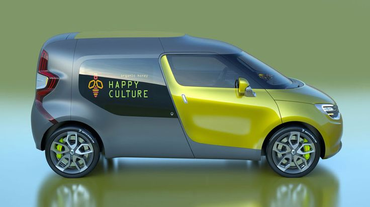 Renault Frendzy Concept work & family EV car, cool-3d-concept