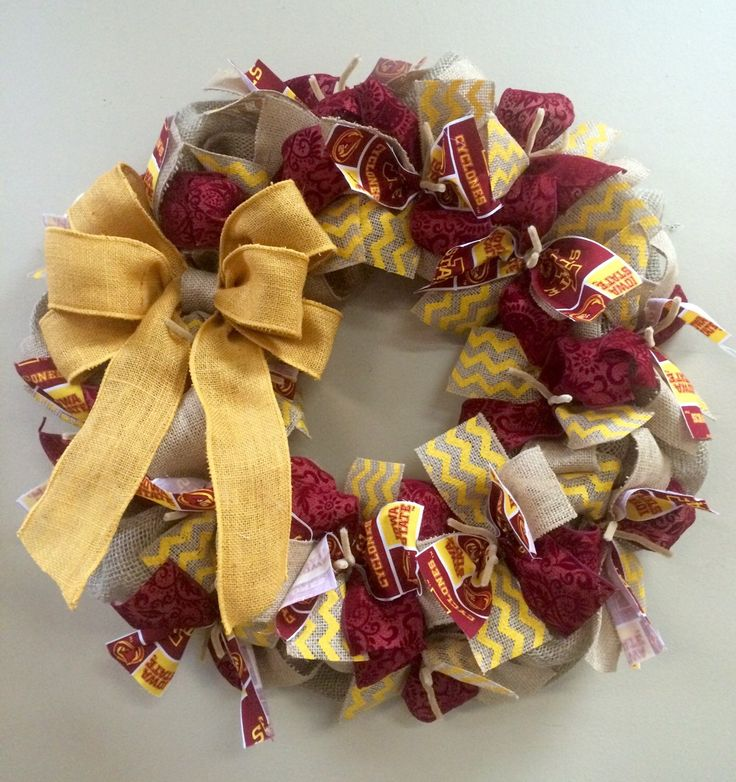 Iowa State Cyclones Wreath Burlap by KentuckyFraminglady on Etsy https://www.etsy.com/listing/256985159/iowa-state-cyclones-wreath-burlap