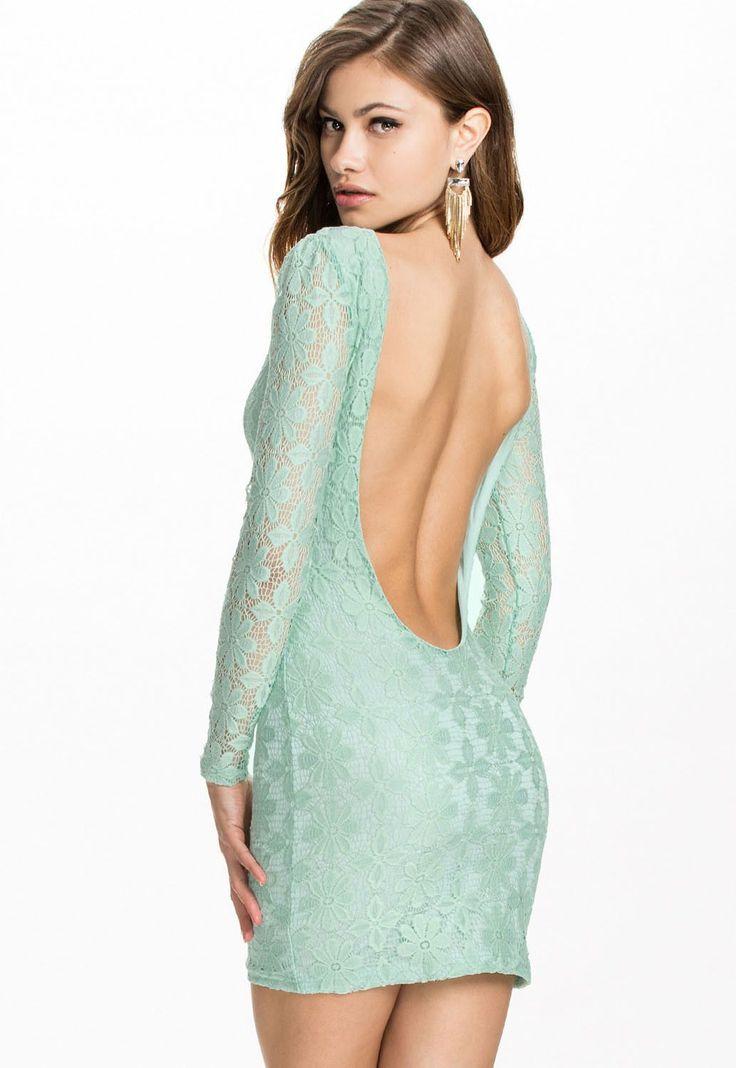 Robe En Dentelle Backless Robes De Club Frais Cyan Pas Cher www.modebuy.com @Modebuy #Modebuy #CommeMontre #sexy #dress #me