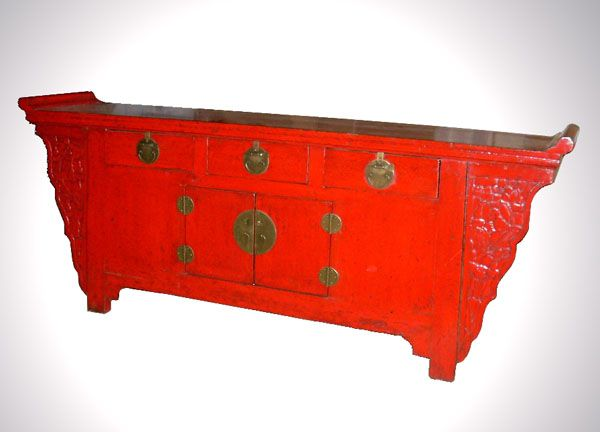 chinese red lacquer sideboard 2