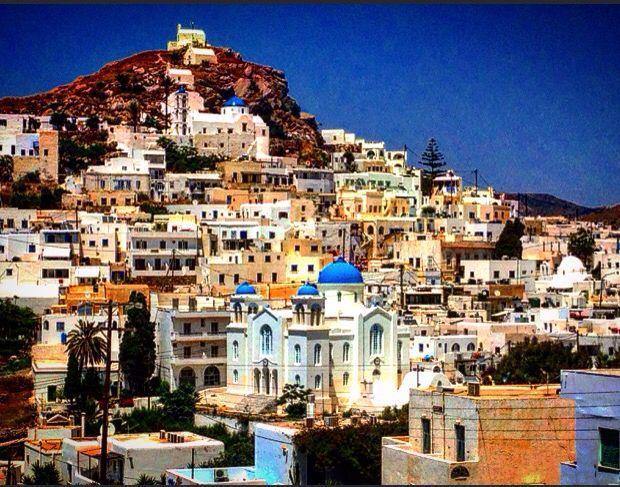 the village - chora of Ios island, Greece