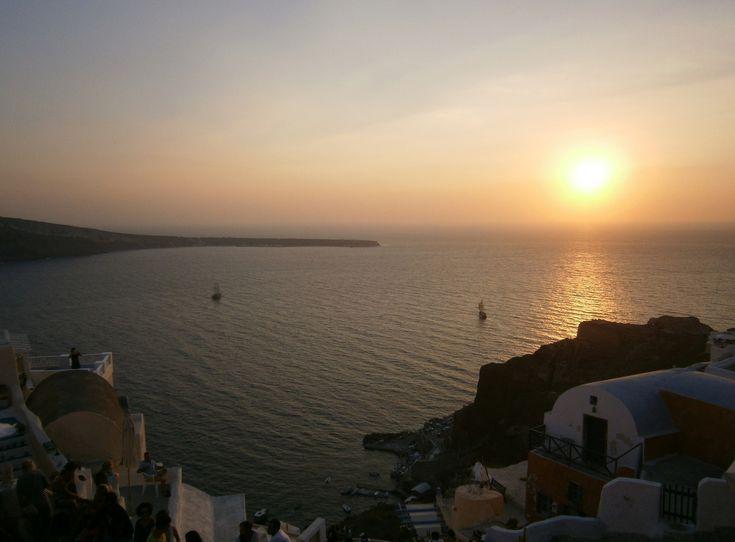 Magnificent sunset at Ia - Santorini