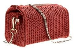 HS Collection Hs1152 Co Pia Coral Red Leather Wristlet/crossbody Bag.