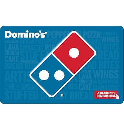 Buy a $50 Domino's Pizza Gift Card for only $40  - Fast Email delivery