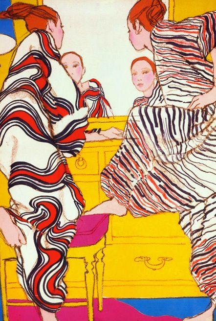 Antonio Lopez, British Vogue, 1965.