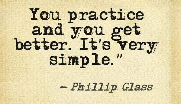 Today I am grateful for the very straightforward power of practice. RB.
