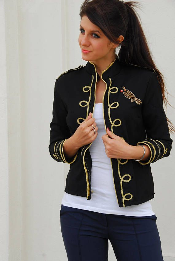 Military jacket women FREE SHIPPING boho military jacket Love this!