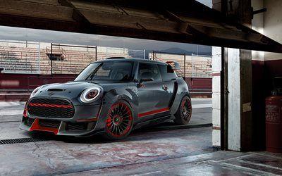Descargar fondos de pantalla 4k, Mini John Cooper Works GP Concepto de 2017, los coches, garaje, Mini Cooper libre. Imágenes fondos de descarga gratuita