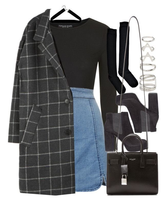 """""""Style #11565"""" by vany-alvarado ❤ liked on Polyvore featuring Topshop, Forever 21, Boohoo, KG Kurt Geiger and Yves Saint Laurent"""