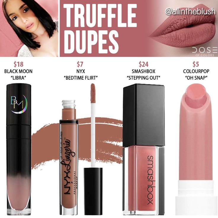 Dose of Colors Truffle Liquid Lipstick Dupes https://www.youtube.com/channel/UC76YOQIJa6Gej0_FuhRQxJg