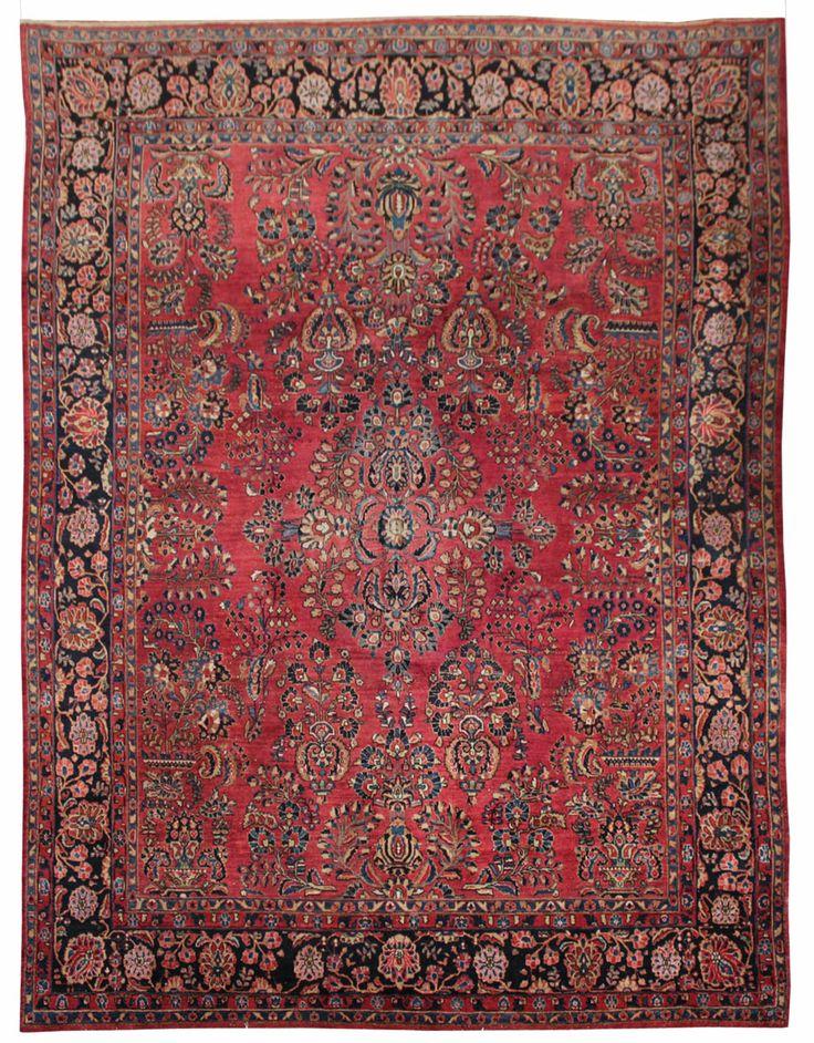 Cod. 10862 Saruk Antico 345x265 tappeto persiano antique rug.