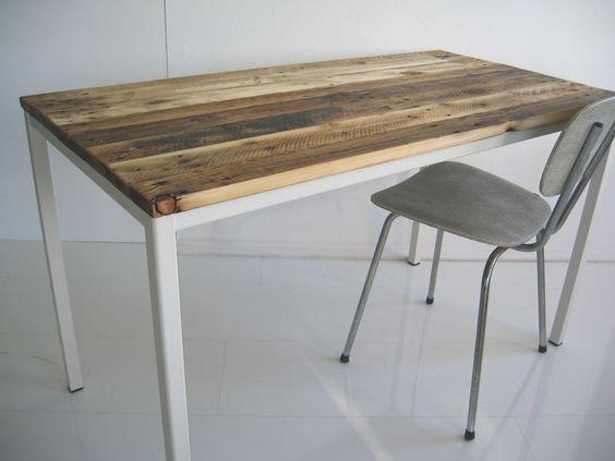 Schreibtische - Schreibtisch, Esstisch, Platte aus Palettenholz - ein Designerstück von Produktwerft bei DaWanda: