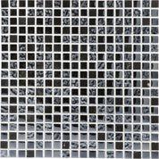 Mosaïque sol et mur Fusion futurisme noir chrome 4.8 x 2.3 cm | Leroy Merlin