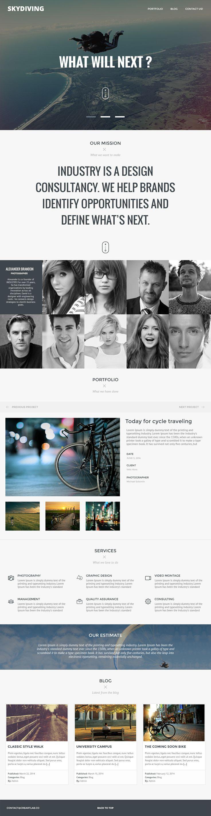 Photography Web Template, soon on www.creartlab.co