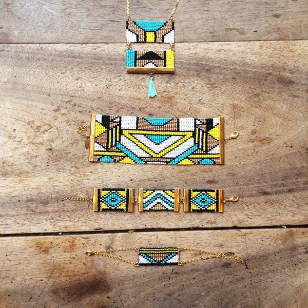 Collection Ndebele 2016. Design unique réalisé à Paris et fabrication artisanale en Afrique du Sud. Lookbook complet : tous les thèmes coloriels.