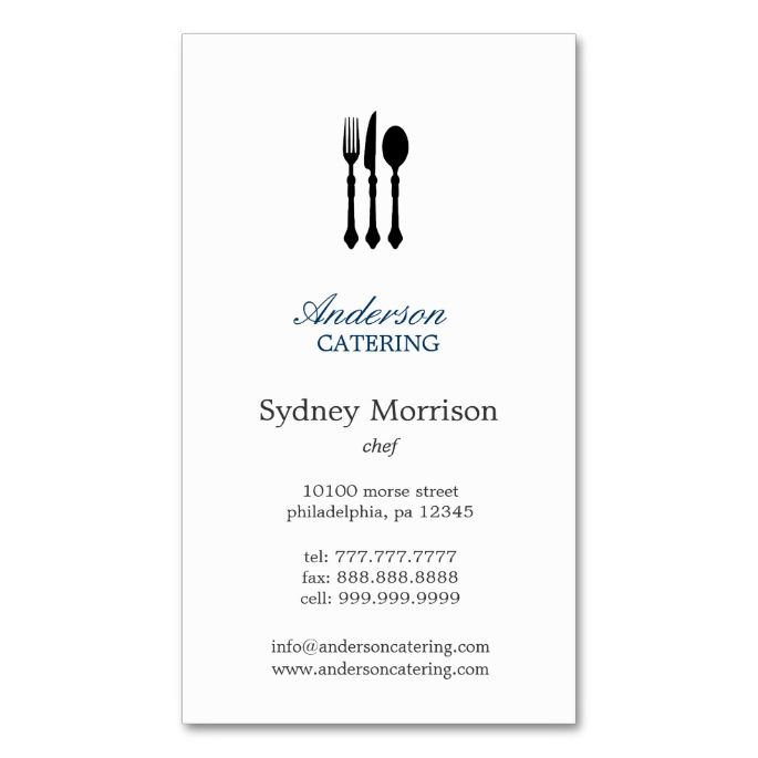 1948 best chef business cards images on pinterest business cards modern cutlery chefcateringrestaurant business card reheart Choice Image